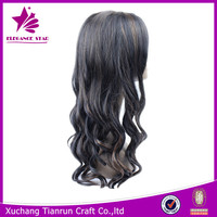 alibaba express charming wave Popular colored two tone hair weave wigs made from synthetic fibers accept paypal