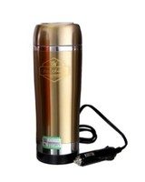 Boiling flask 304 Stainless steel 2014 electric water heater for car with cigarette lighter/Electric heater hot water bottle