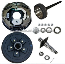"Half trailer axle kit complete with 10"" electric brake assembly and 5 studs hub"