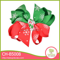 Professional wholesale colorful kids ribbon hair christmas bow