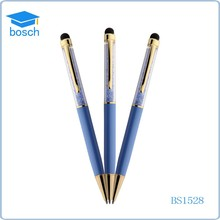 Wholesale feature promotional thin metal touch ballpoint pen