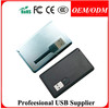 Free sample Hot sale newest design thin credit card usb flash drives with CE FCC RoHS