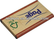 2013 ECO friendly FSC Authentication super thin wooden card USB Drive, bamboo housing available too with different shape