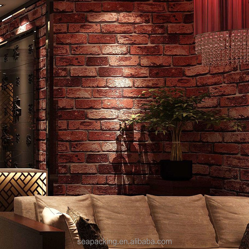 Brick Design Vinyl 3d Wallpaper For Home Decoration