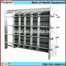 Pasteurizador placa de intercambiador de calor para la cerveza/de bebidas