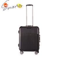 Black luxury carryon travel trolley suitcase luggage 2015