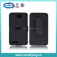 hard PC combo case For alcatel 8000 with rotating clip stand