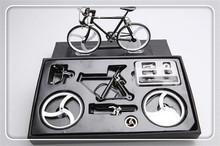 Metal assembling diy bicycle model simulation educational Fixed Gear model