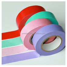 colorful and blue masking tape brown