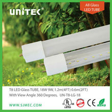 UL CE T8 LED glass tube 360 degree led tube light