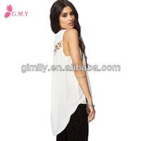 new models blouses fashion clothes v neck sleeveless nice back short front