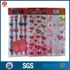25 PK valentine 3 designs red color candy treat bags with 25 red twist ties
