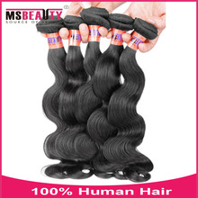 MS Beauty Goods Top quality grade 8a 100% brazilian body wave hair extension