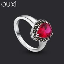 OUXI big sale original design new model vintage silver ring