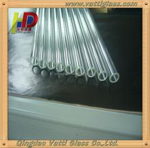 Alta Quanlity transparente alta vidro borosilicato tubo com menor diâmetro