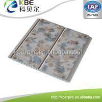 Middle groove design plastic bathroom wall tile panel pvc board