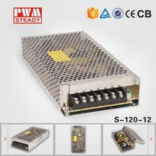 aluminum shell 120 volt ac to 12 Volt power supply cctv ac dc 120w switch mode power supply