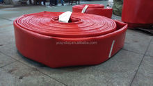 Large bore polyurethane hose water supply and discharge for emergency system