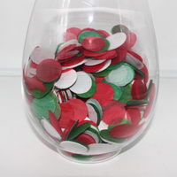 Red Green White Tissue Paper Confetti For Christmas Party Decoration