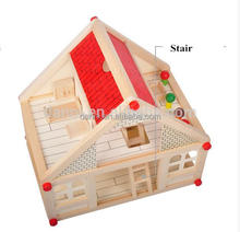 Model DIY Wooden Toy House Multifunctional Educational Wooden Magnetic Puzzle Toys for Childr