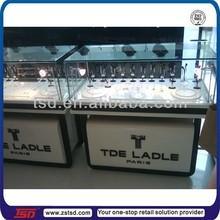TSD-W1236 glass corner cabinet,watch shop display,glass showcase watch wood