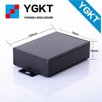 6063 black anodized 74*29*70mm aluminium extrusion housing enclosure for pcb Circuit board