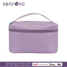satin material cosmetic bags drawstring pvc cosmetic bag