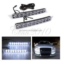 2x 9LED For Audi Style Daytime Running Light Fog Lamp DRL Super White Bar Waterproof For Lexus GS350 For BMW E90 92