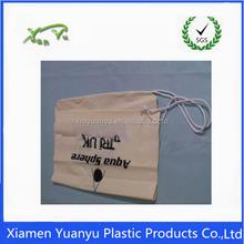 Custom printed PE/OPP plastic packing list drawstring bag