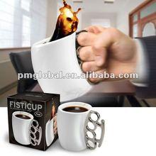Creative item ceramics fist cup/ Ring mugs