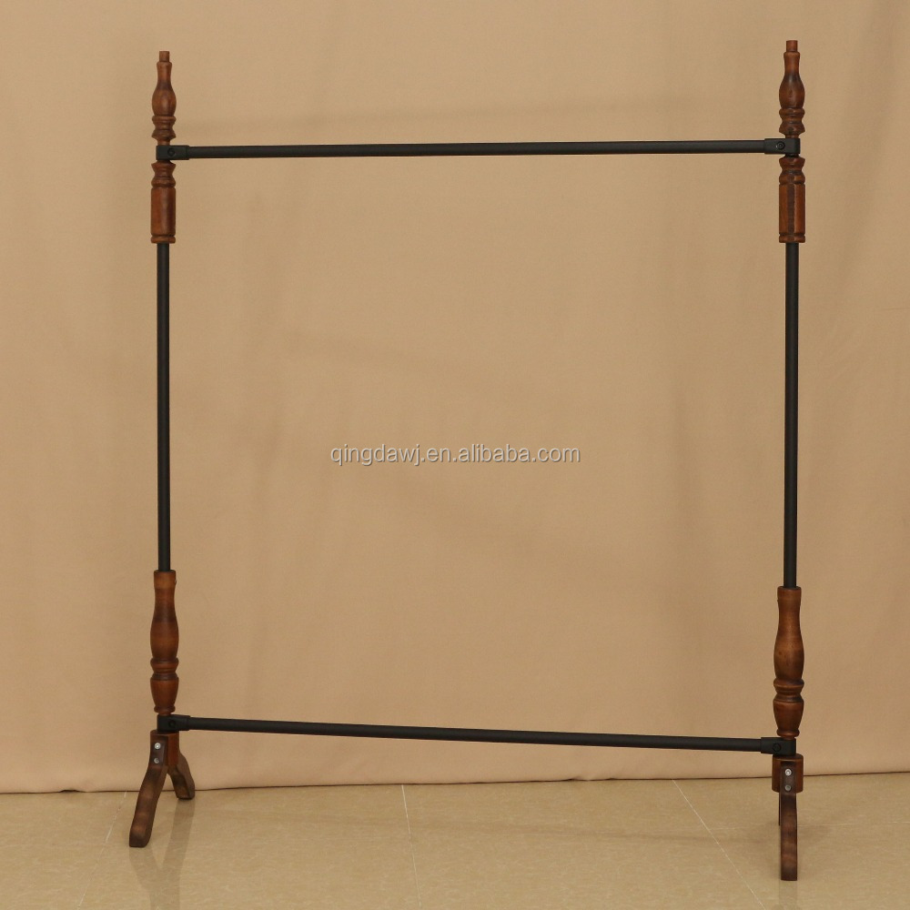 Wooden Hanging Clothes Display Rack For Garment Shop Buy