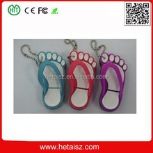cute pvc slipper shape usb stick, flip flops usb 1tb, slippers usb flash drive no minimum order