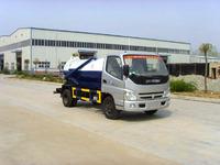 Foton 2cbm mini flexible sewage suction truck for sale