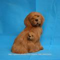 realista realista hecha a mano de la felpa del perro de Brown