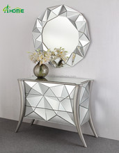 Leatest Fabulous Design Nice Hot Sale Mirrored 3 Drawers Chest with Mirror