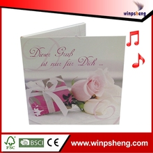 High End Recordable Music Greeting Card For Wedding,Birthday