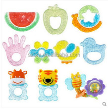 Eco-friendly BPA-free Soft Natural Cute animal baby teethers,China supplier food grade natural rubber teether