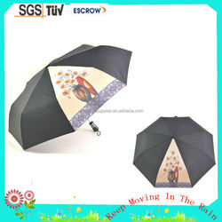 21'' 8ribs auto open and closed 3 fold umbrella fiberglass ribs automatic folding umbrella