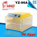 Yz-96a melhor preço marca automática cheia mini 264 codorna incubadora do ovo