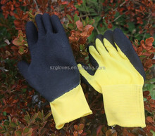 String Knit black LATEX RUBBER COATED PALM Work Safety Gloves LARGE NEW