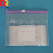 LDPE good price hanging write block slider bag with storage