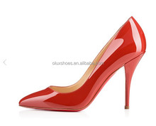 O092 latest red high heel women dress shoes