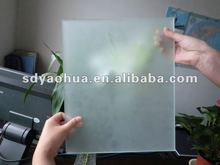 6mm hot sale decorative artistic glass acid etched glass for shower room/ glass door