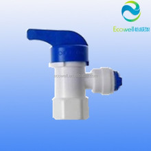 Pressure Tank Ball Valve Quick Connect Fitting , RO Water Parts