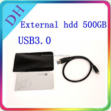OEM external hard disk drive 500gb USB3.0 wholesale price for customize logo