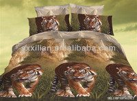 china wholesale animal 3D printing 100% polyester bedding set /bed sheet/duvet cover/pillow