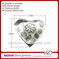 XD KM089 925 antique silver 11mm heart shape beads large heart beads