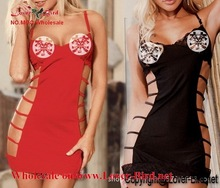New Lace Sexy Baby Doll RED Color Sexy Women Erotic Lingerie Mini Dresses Underwear Sleepwear Night Gown +G-String sexy babydoll