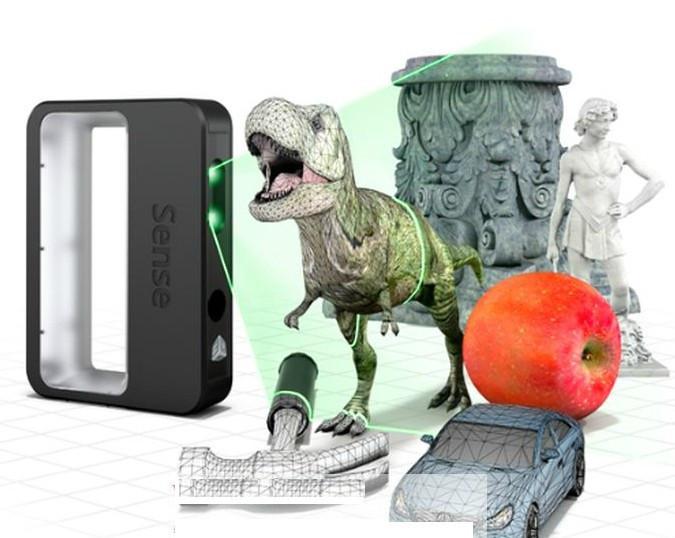 New Sense 3D scanner 3D Systems 3D scanner supports MAC