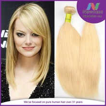 Sew in human hair extensions blonde for white women hair and fashion woman hair